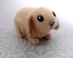 Babs the Needle Felted Baby Bunny by Charlottejks