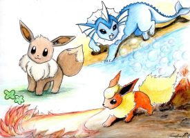 Eevee evolutions: Part 1 by tourettesz