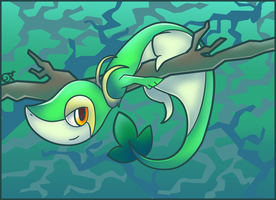 The Grass Snake Pokemon by FancyPancakes