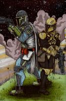 Mandalorian commission by ragelion