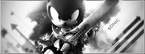 Sonic Vector Black and White by Grily