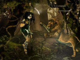Fightning in the Jungle by annemaria48