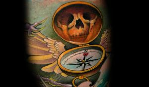 life compass by redliontattoo