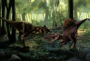 battle of giants by MightyGodOfThunder