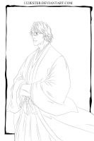 Aizen | Bleach 100 cover | Lineart by 132Jester