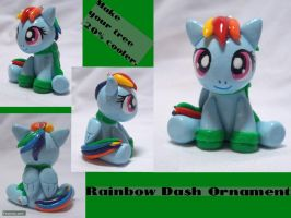 Rainbow Dash Ornament by CadmiumCrab