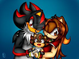 Shadow, Steven Y Monica The Hedgehogs Family by MonicaShadowXD