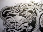 Norse mythology tattoo design  Fenrir detail by Tattoo-Design