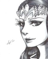 Zelda Twilight Princess Drawing by LayzeMichelle