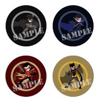 Batfamily Pins by Shioji-san