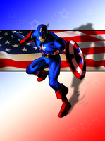 Captain America Colors by DaveKennedy