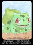 Bulbasaur Sketch card (Sold) by Bright-Raven