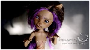 Werewolf OOAK MH doll Repaint by kamarza