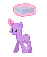 Unicorn Carrying Cupcakes [Base] by eskimoadopts