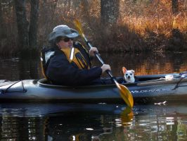 John Moore and Ensign Bobo on the Squannacook by astutefish