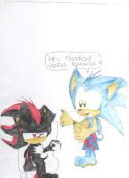 A Hedgehog Moment With Shadow by GLaDOS-Woody