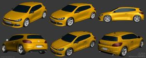 VW Scirocco R Modeling by Siregar3D