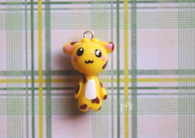 Giraffe Polymer Clay Charm by puddingfishcakes