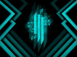 Skrillex - Bangarang Wallpaper (Blue Edit) by Ray-Akim-Blau