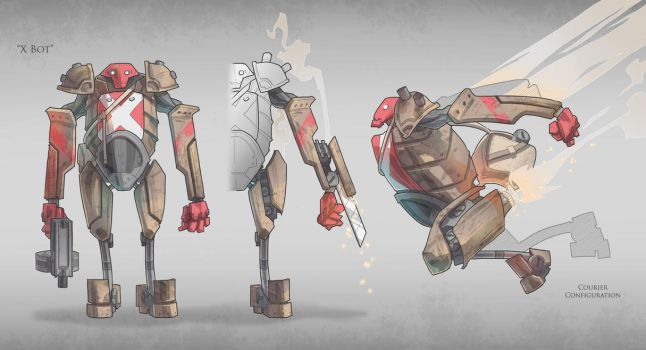 Character Concept / X Bot by BrotherBaston