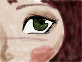 Manga eye by SaskiaWillow