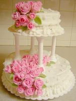 Fondant Rose cake by Zappe
