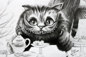 The cat in Alice in the Wonder by OCMay