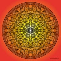 Mandala drawing 26 ORANGE by Mandala-Jim