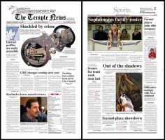 Temple news front and back by russianmike