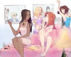Sleepover, girls! by ChocolaPeanut