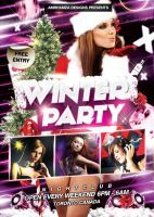 Winter Party Flyer Poster PSD by amrhamza