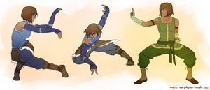 Martial Arts Studies with Korra by Ma-rin