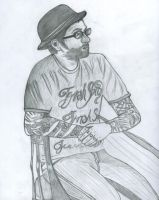 Dallas Green Drawing by littleemmy