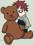 My teddy : gaara chibi : by randomiest