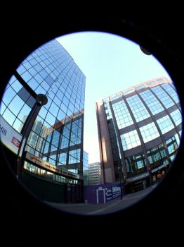 Fisheye building by FelicityCharlottex