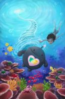 Lyka and the Great Barrier Reef by pesare