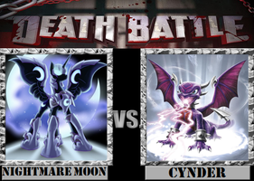 Nightmare Moon VS. Cynder by Grimmjow-thesexta