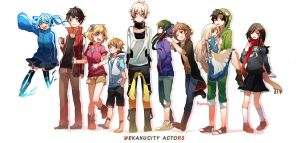 Mekakucity Actors by hyomoww