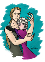 Requests-Frozen Elsa and Sabre by ChiehChen