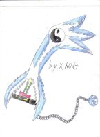 C.H.A.O.S keyblade by x-hog
