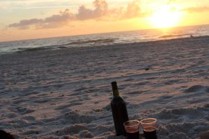 Wine on the Beach by Erebes