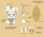 Mana Cycle: Crusader Armor back view by Nemo-Nessuno