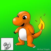 Charmander From Pokemon Green by spacepig22