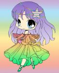 Rainbow Girl Colored by crazyweirdogirlWHEE