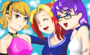 Wendy, Charlie, and Phoebe by ChocolateChaos