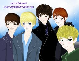 Shinee Christmas by curlymobb
