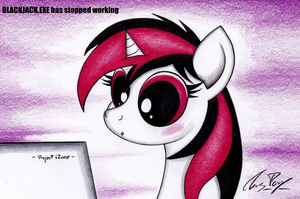 Blackjack discovers the internet by TheChrisPony