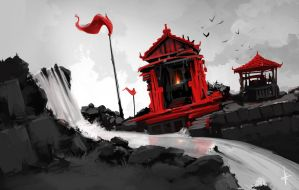 128 - Red temple by e-will