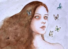 Tears and butterflies by LauraMSS