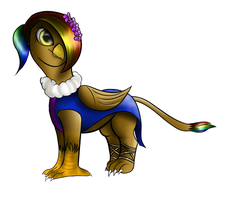 Rainbow Feather's dress by Lyco-Lycanth by Q99